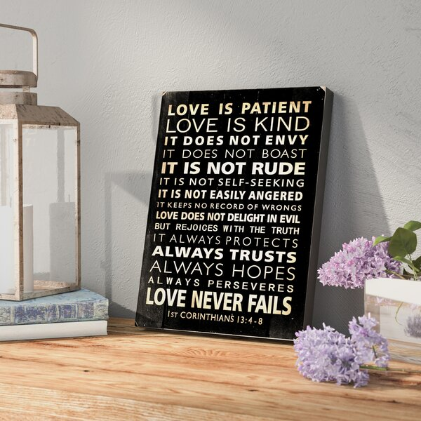 Love Is Patient Textual Art by Laurel Foundry Modern Farmhouse