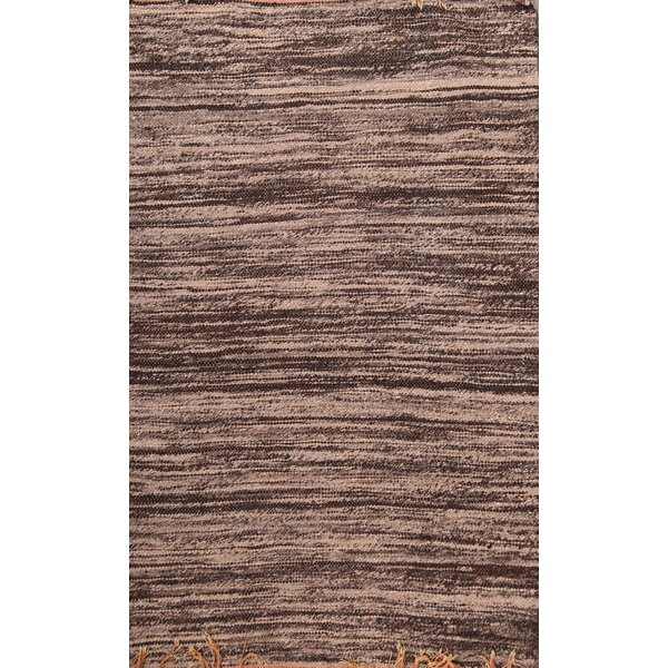 Stoudt Kilim Moroccan Oriental Hand-Knotted Wool Red/Burgundy Area Rug by Bloomsbury Market