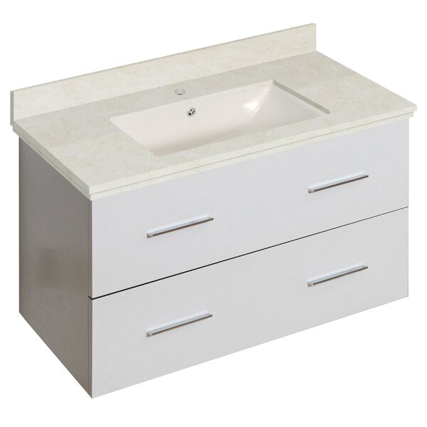 Hinerman 36 Wall-Mounted Single Bathroom Vanity Set by Royal Purple Bath Kitchen