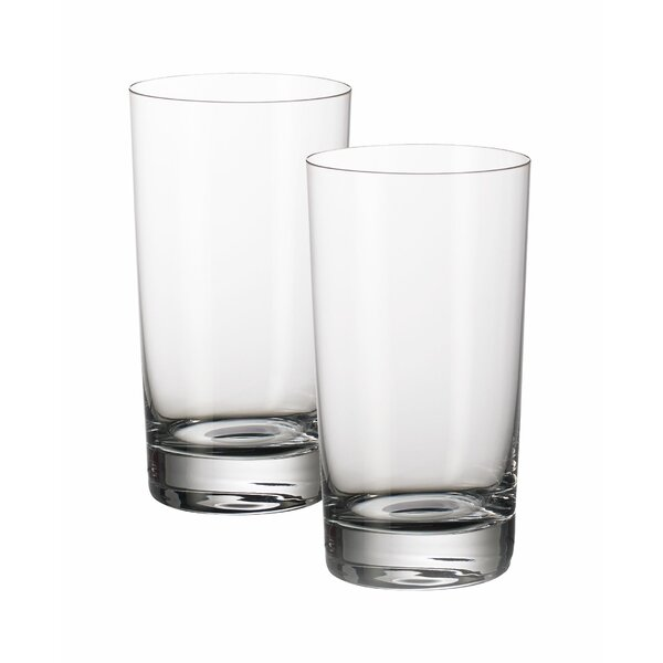 Purismo Bar 13 oz. Crystal Highball Glass (Set of 2) by Villeroy & Boch