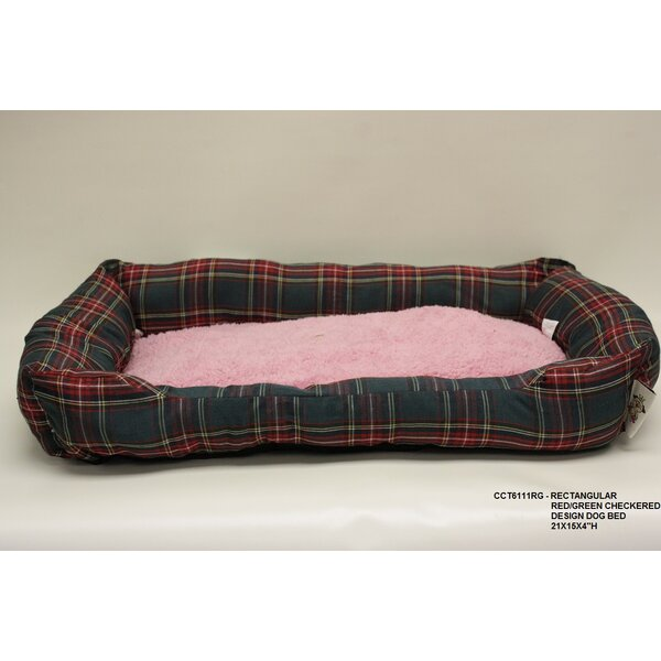 Rectangle Checkered Dog Bed by Desti Design