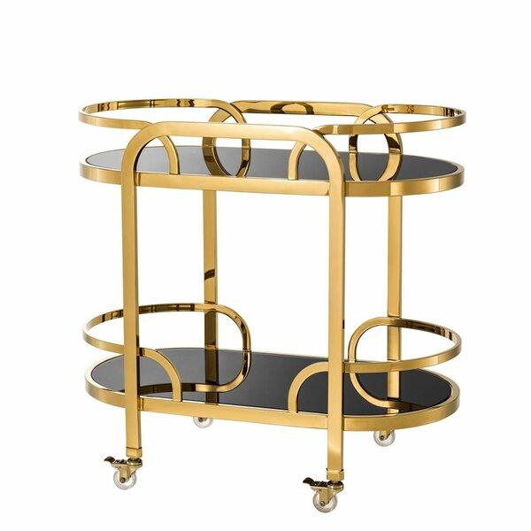 Glass Trolley Bar Cart by Eichholtz Eichholtz