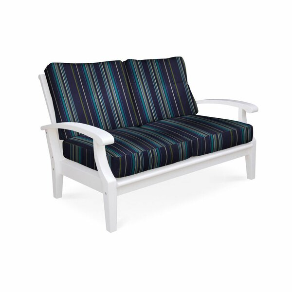 Lowery White Deep Seating Loveseat by Rosecliff Heights