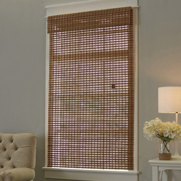 Indian Ginger Bamboo Roman Shade by Mistana