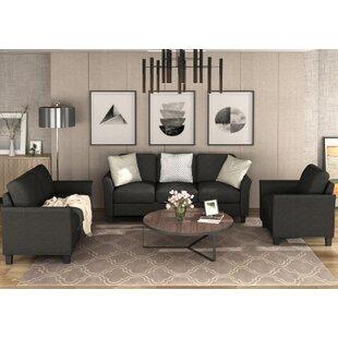 Bittoo 3 Piece Living Room Set by Red Barrel Studio®