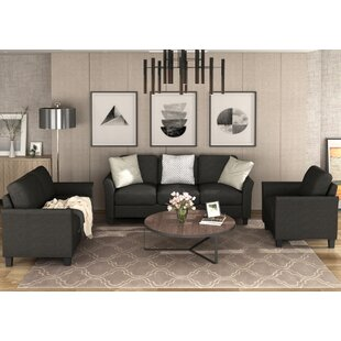 Tyaskin 3 Piece Standard Living Room Set by Red Barrel Studio®