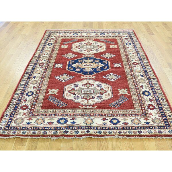 One-of-a-Kind Bechtold Tribal Design Handwoven Red Wool Area Rug by Isabelline