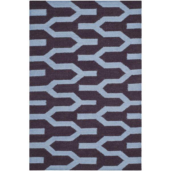 Dhurries Hand-Woven Wool Purple/Blue Area Rug by Safavieh