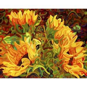 Four Sunflowers Graphic Art by Prestige Art Studios