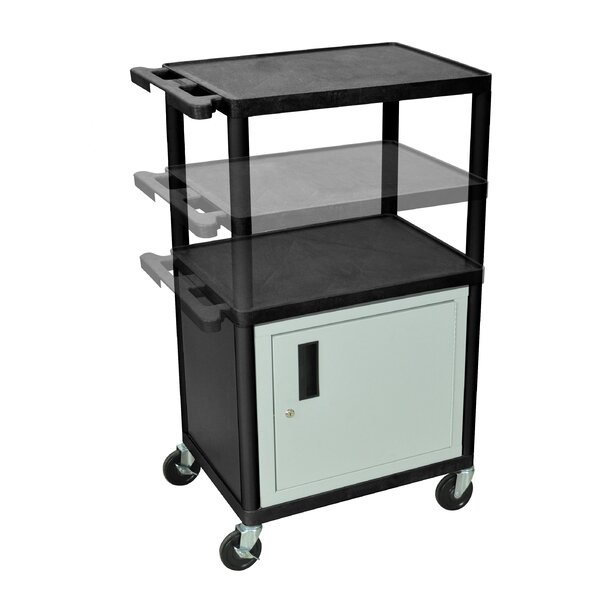 LP Carts Series AV Cart with Cabinet by Luxor