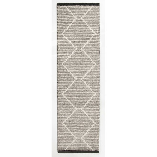 Elle Geometric Gray Area Rug