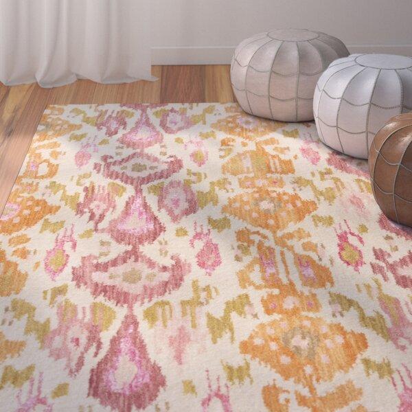 Bower Pastel Pink Ikat/Suzani Area Rug by Bungalow Rose