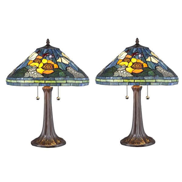 Quince Golden Poppy Table Lamp by August Grove