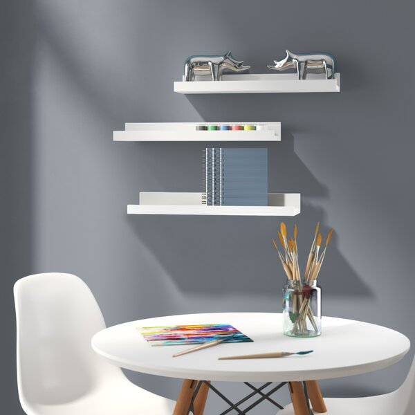 Strain Floating 3 Piece Wall Shelf Set by Ebern Designs