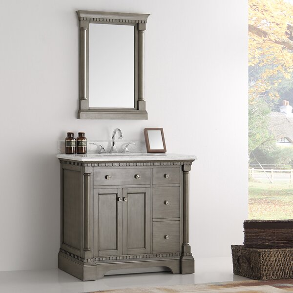Kingston 37 Single Bathroom Vanity Set with Mirror by Fresca