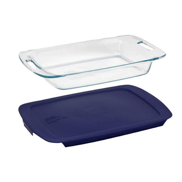 Pyrex Easy Grab 3 Qt. Oblong Baking Dish with Cover by Pyrex