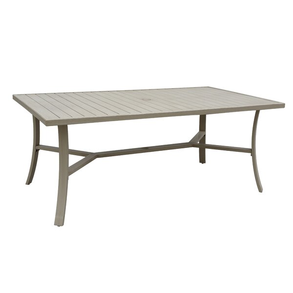 Caressa Outdoor Aluminum Dining Table by Darby Home Co