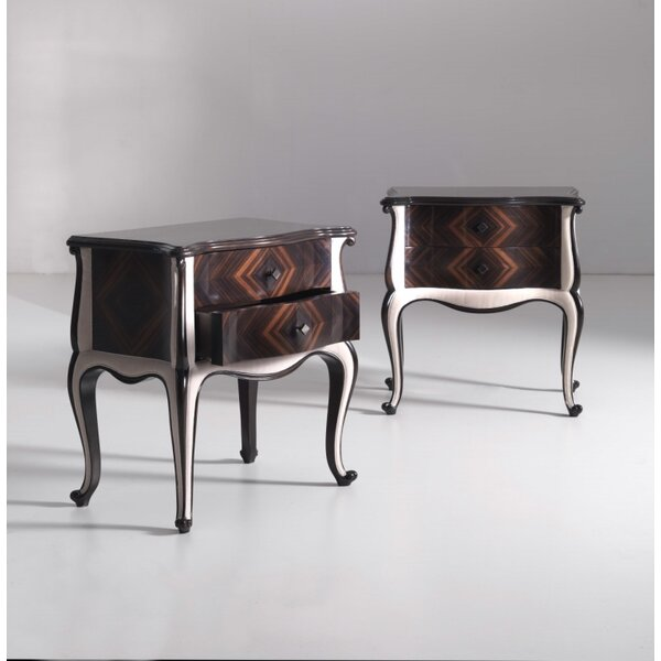 2 Drawer Nightstand by Annibale Colombo