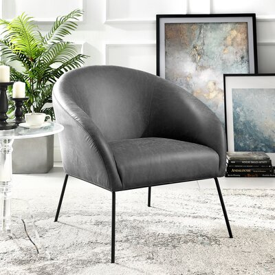 Nicole Miller Leather Pu Barrel Chair Upholstery Color Accent Chairs