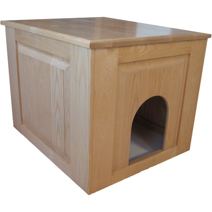 Raised Panel Litter Box Concealment Cabinet