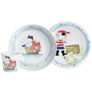Kids 3 Piece Porcelain Children\u0027s Dinnerware Set  sc 1 st  Wayfair & Childrens Plates | Wayfair.co.uk