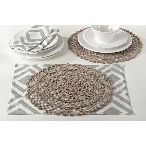 Hanlin Crochet Design Placemat (Set of 4) by One Allium Way