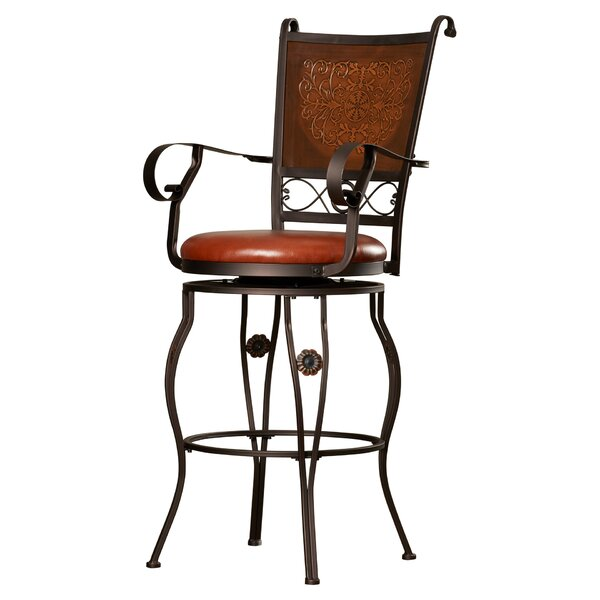 Darlington 30 Swivel Bar Stool by Fleur De Lis Living