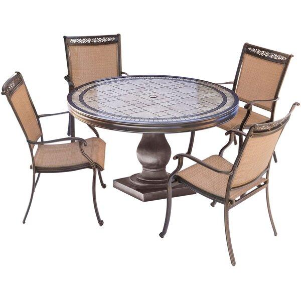 Bucher 5 Piece Outdoor Dining Set by Fleur De Lis Living