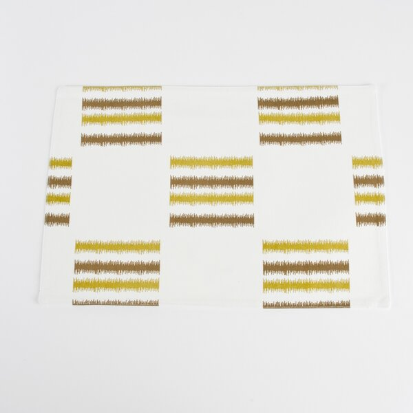 Sonya Line Design Fused Placemat (Set of 4) by Saro