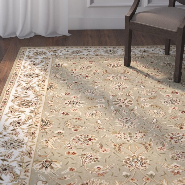 Chuckanut Hand-Hooked Wool Sage/Ivory Area Rug by Darby Home Co