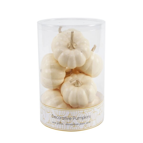 Boxed Fall Pumpkin Decorative Accent (Set of 8) by The Holiday Aisle