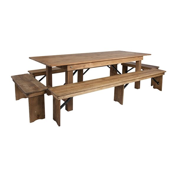 Milani 5 Piece Breakfast Nook Dining Set by Millwood Pines Millwood Pines