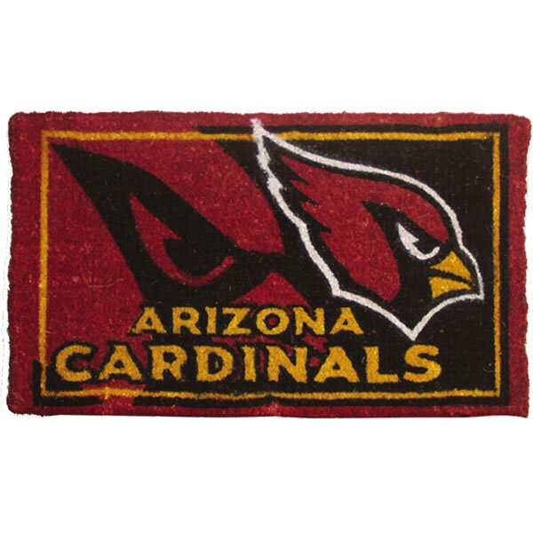NFL Arizona Cardinals Welcome Graphic Printed Coir Doormat by Team Sports America