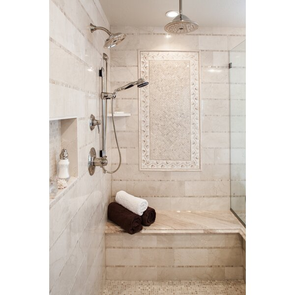 Crema Marfil 1 x 12 Marble Bullnose Tile Trim in Crema Marfil Classic by Emser Tile