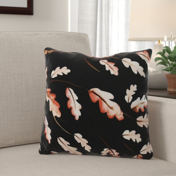 Lanz Wild Oak Branch Floral Throw Pillow by Winston Porter