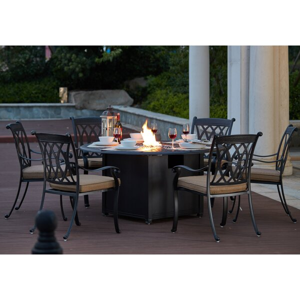 Melchior 7 Piece Dining Set with Cushions by Astoria Grand