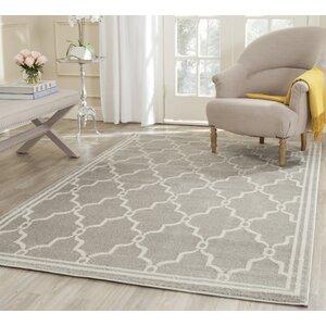 Maritza Light Gray/Ivory Indoor/Outdoor Area Rug