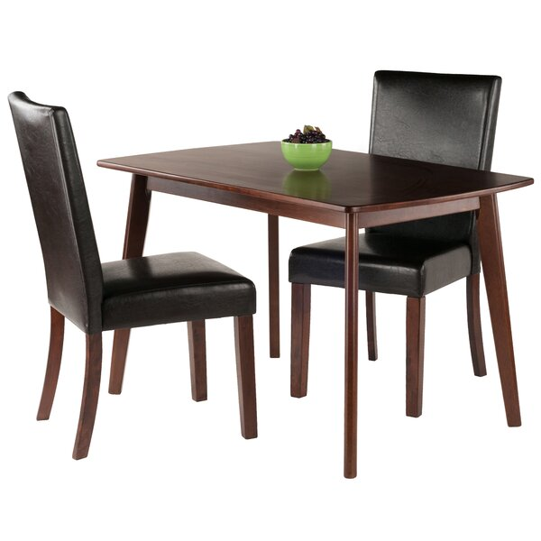 Guynn 3 Piece Solid Wood Dining Set by Winston Porter