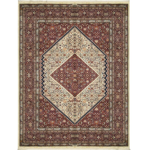 One-of-a-Kind Hand-Knotted Wool Ivory/Navy Area Rug by Bokara Rug Co., Inc.