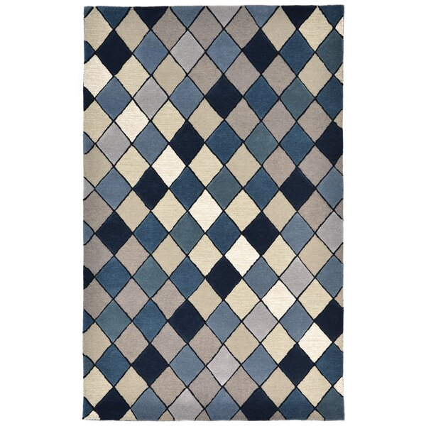 Shelburne Hand-Tufted Blue Area Rug by Latitude Run