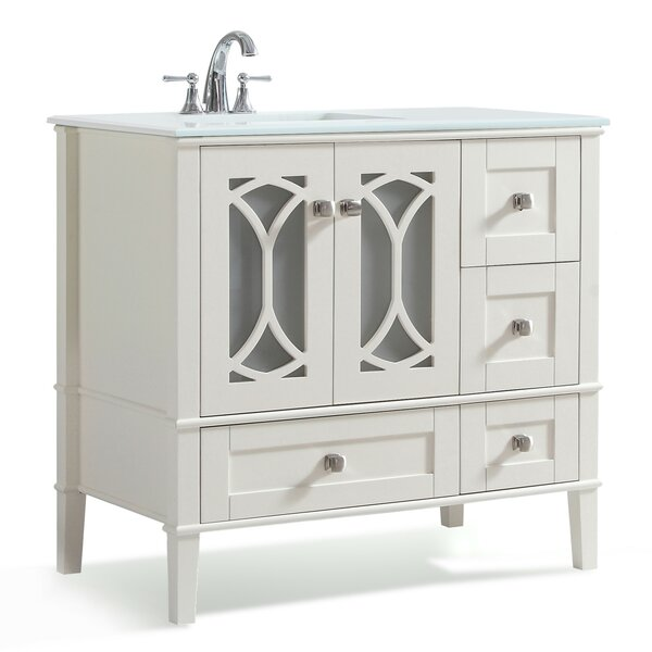 Paige 37 Single Bathroom Vanity Set by Simpli HomePaige 37 Single Bathroom Vanity Set by Simpli Home