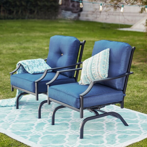 Siemens Outdoor Spring Rocking Chair with Cushions (Set of 2) by Charlton Home