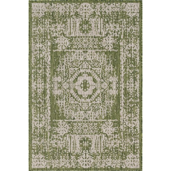 Cowie Green/Gray Indoor/Outdoor Area Rug by Charlton Home