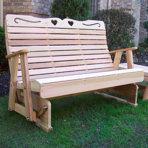 Tillison Hearts Wood Garden Bench by August Grove