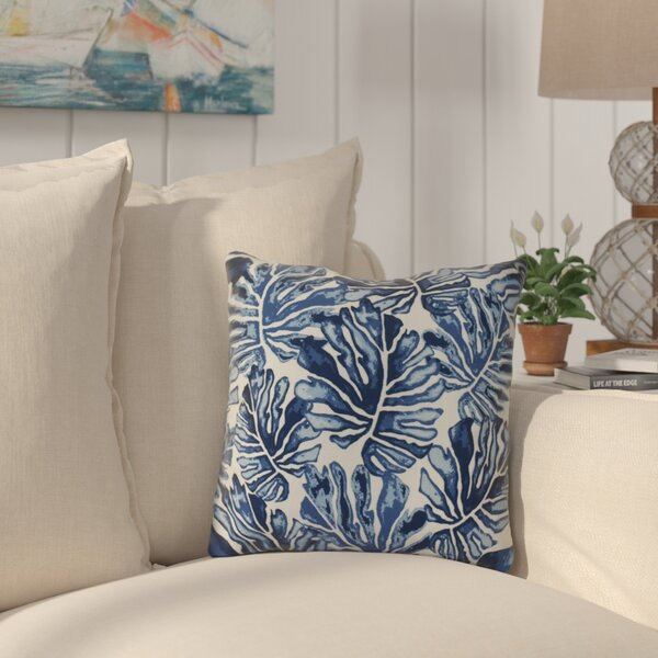 Thirlby Palm Leaves Outdoor Throw Pillow (Set of 2) by Beachcrest Home