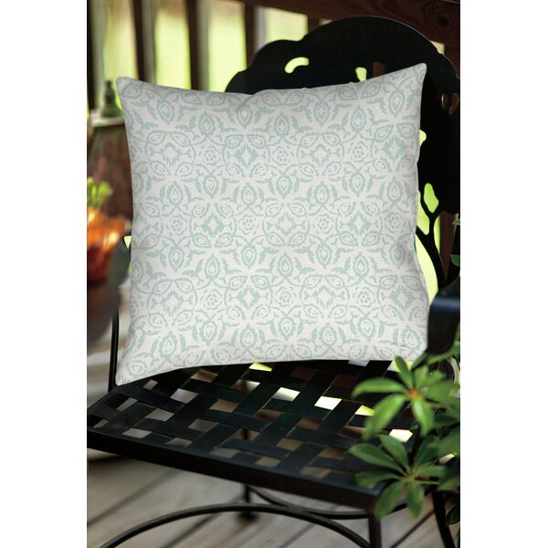 Flowing Damask 2 Indoor/Outdoor Throw Pillow by Manual Woodworkers & Weavers