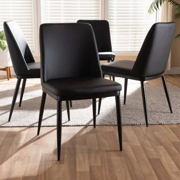 Regnier Upholstered Dining Chair (Set of 4) by Orren Ellis