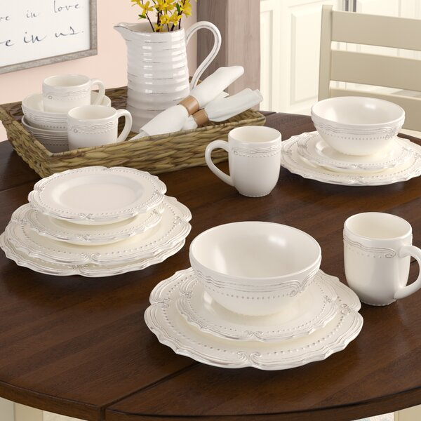Prescott 16-Piece Dinnerware Set, Service for 4 by