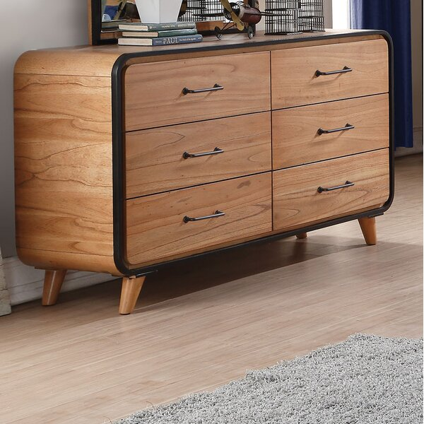 Carnamaddy 6 Drawer Double Dresser by Harriet Bee