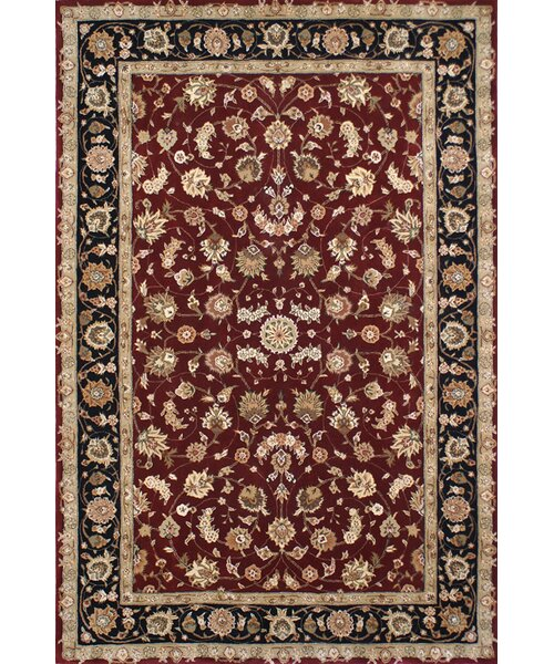 Hand-Tufted Burgundy/Red Area Rug